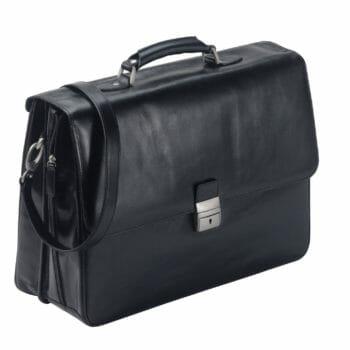 2506A zw volnerf rundleren aktetas met laptopvak Dermata lederwaren
