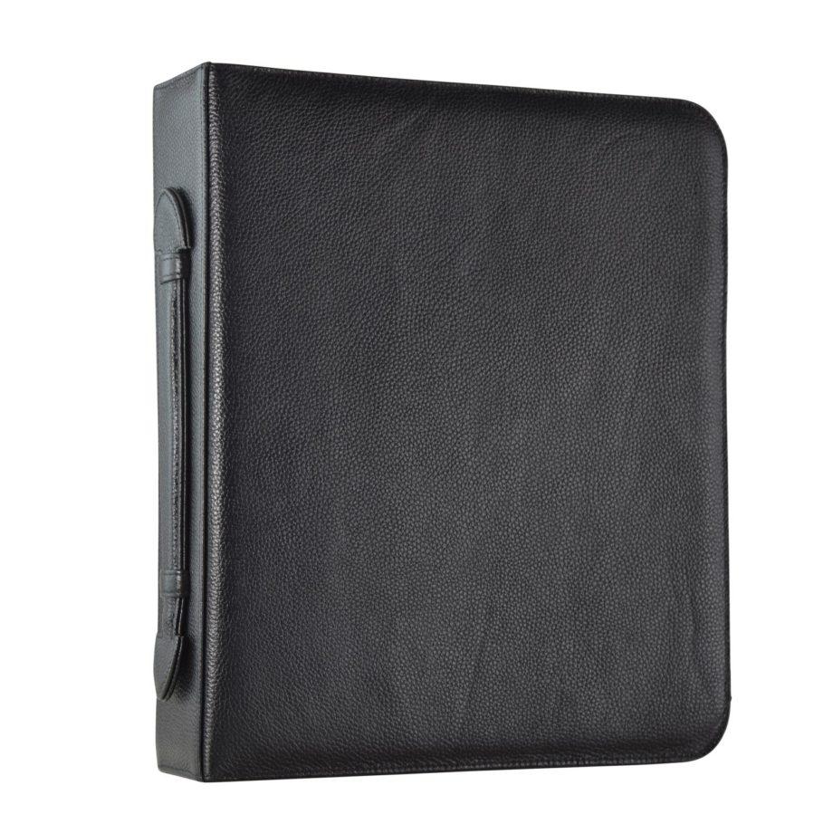 2643/5 Schrijfmap A4 rundleer zwart Dermata lederwaren