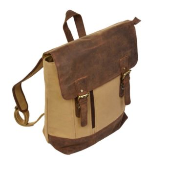 2841CV rugtas Dermata canvas leder sand/brown