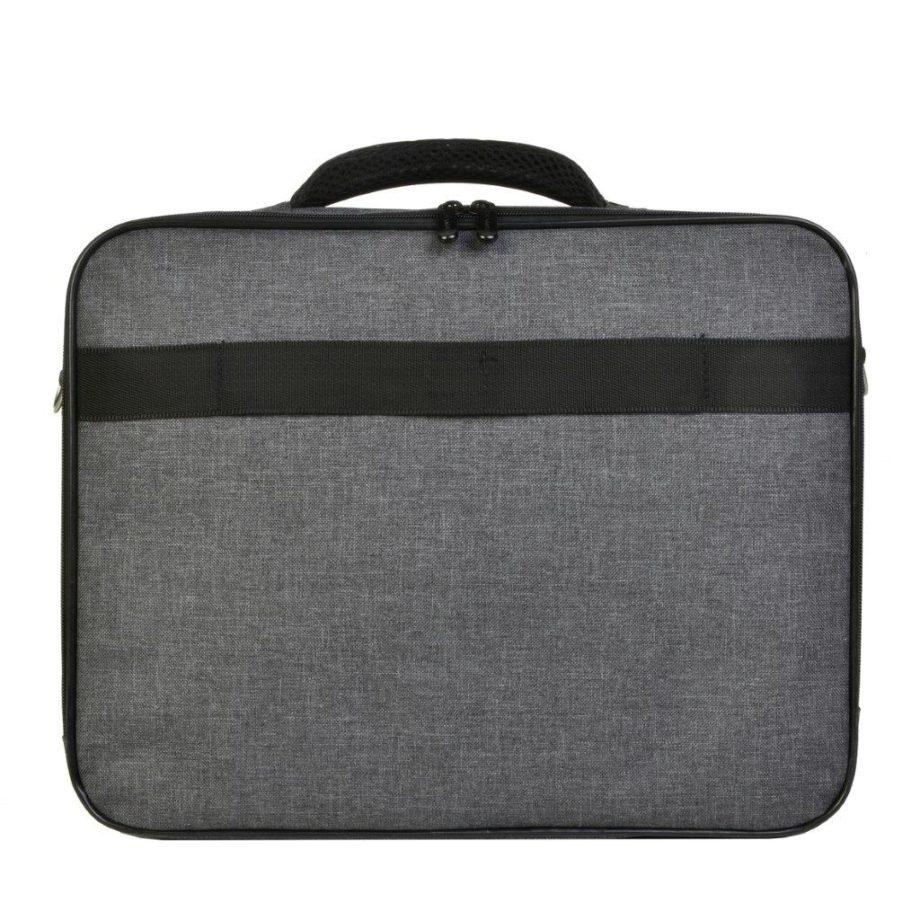 3459CV GR laptoptas canvas grijs Dermata Lederwaren