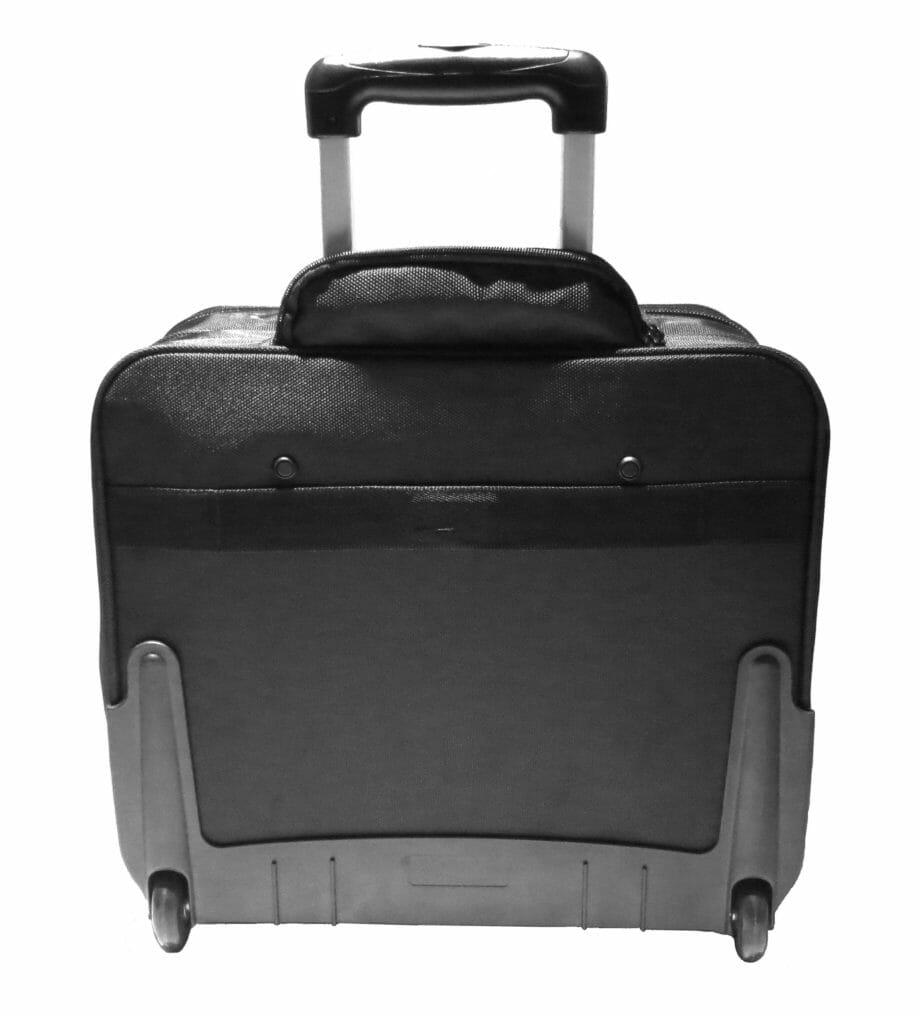 3484NY trolley nylon zwart Dermata lederwaren
