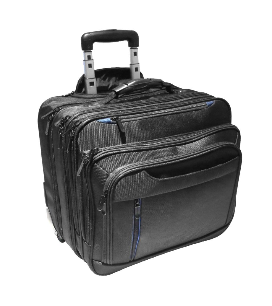 3484NY businesslaptop trolley nylon zwart Dermata Lederwaren