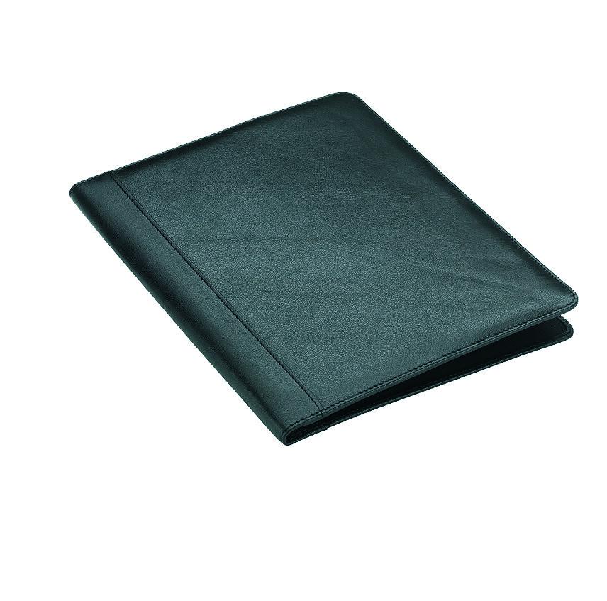 Schrijfmap a4 rundleder zwart Dermata Lederwaren