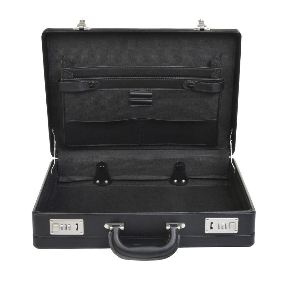7001P kunstlederen attachékoffer van Dermata lederwaren